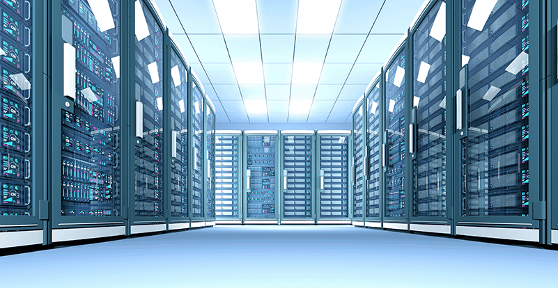 Server room indicating the power of Apiax Engine