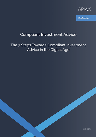 This picture shows the cover of our whitepaper on compliant investment advice