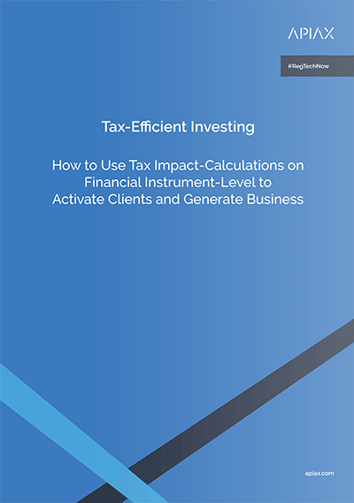 This is a picture of our white paper on tax-efficient investing