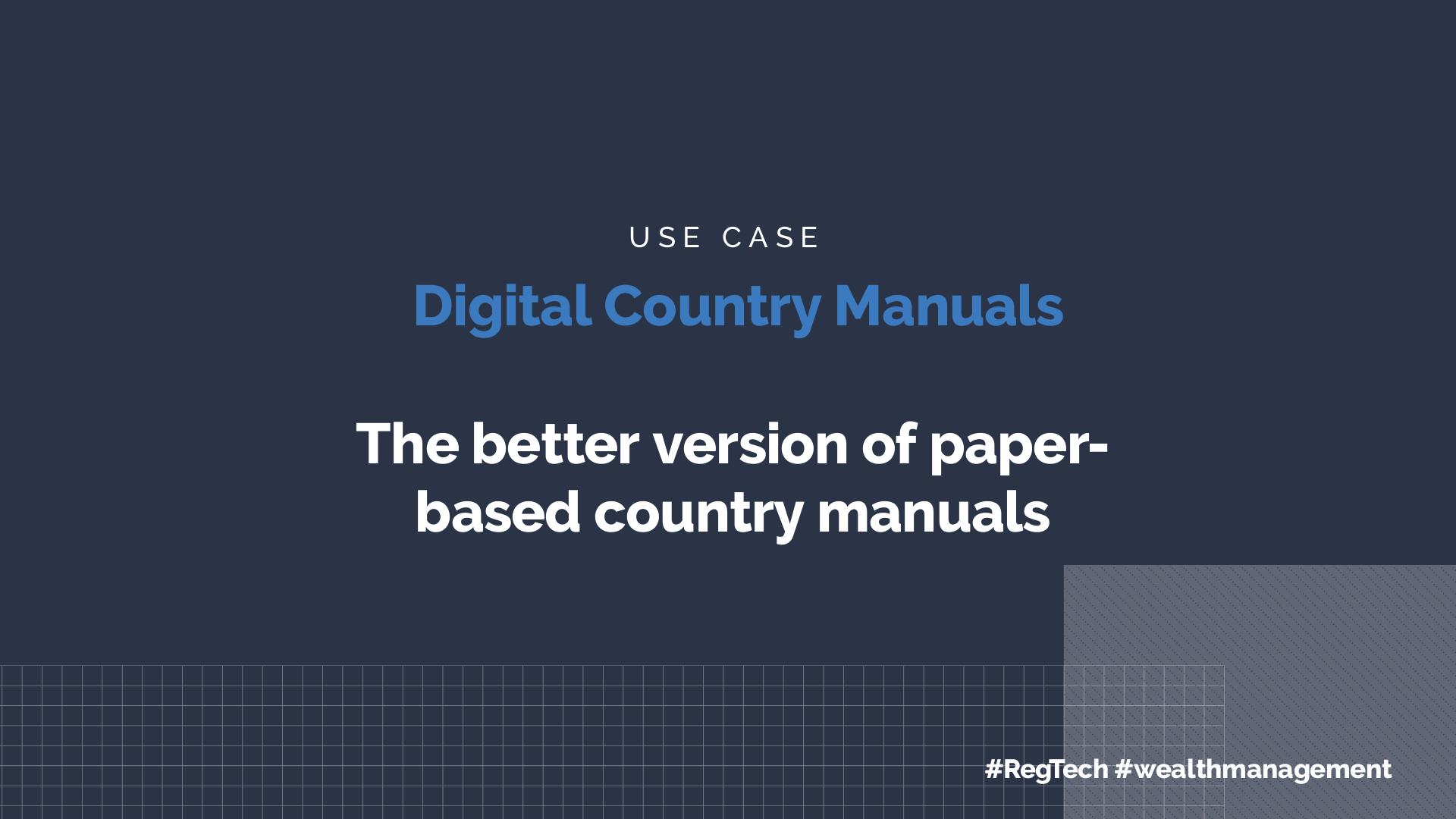 Digital Country Manuals